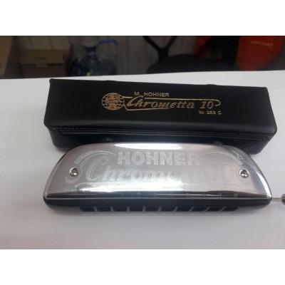 Губная гармошка HOHNER Chrometta 10 253/40 Б/У