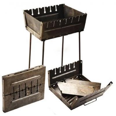 Мангал-чемодан на 6 шампуров КК-М6