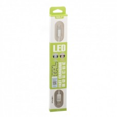 Кабель Lightning Golf Diamond GC-12i LED metal Iphone