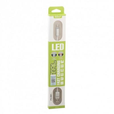 Кабель Micro USB Golf Diamond GC-12m LED metal  Б/У
