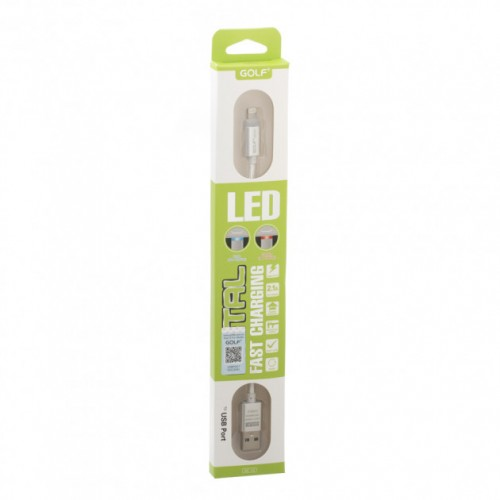 Кабель Micro USB Golf Diamond GC-12m LED metal