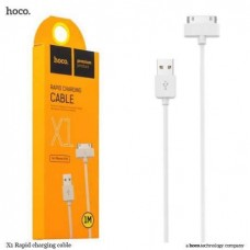 Кабель HOCO iPhone 4 30pin x1 Rapid 2,1A white